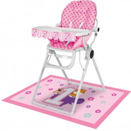 Girls Jungle 1st Birthday High Chair Decorating Kit