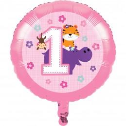 Girls Jungle 1st Birthday Foil Balloon