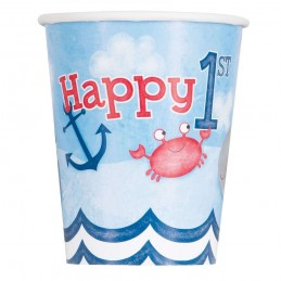 Nautical 1st Birthday Paper Cups (Pack of 8)