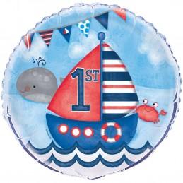 Nautical 1st Birthday Foil Balloon