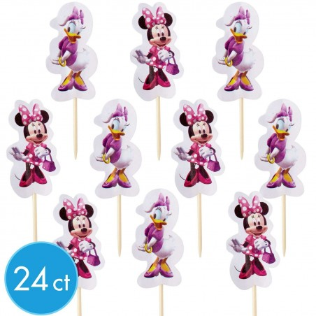 Minnie Mouse Cupcake Picks (Pack of 24)