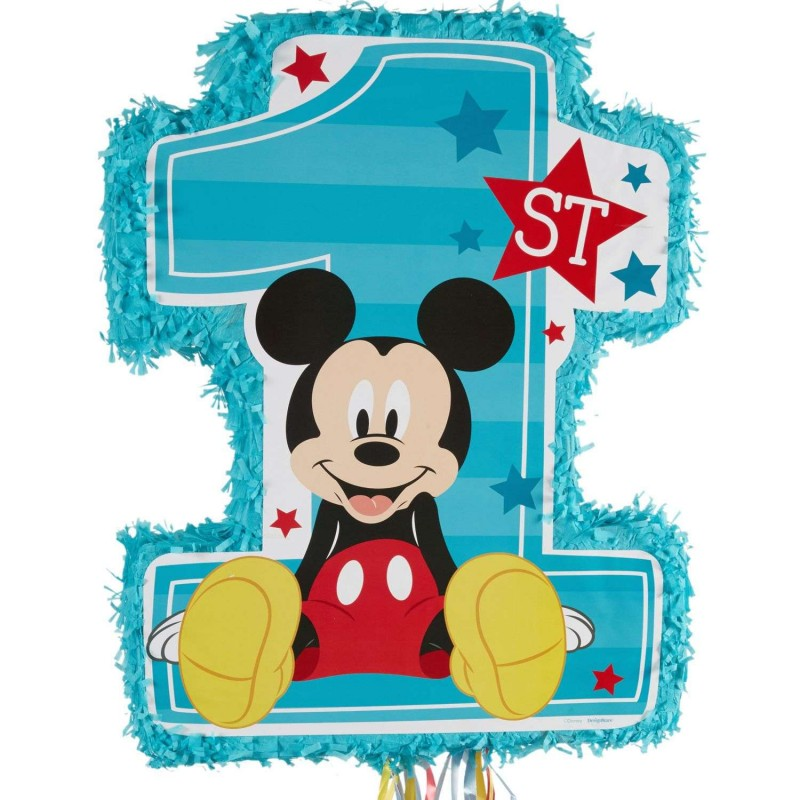 Mickey Mouse 1st Birthday Pull String Pinata Mickey