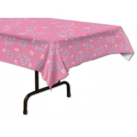 It's a Girl Plastic Tablecloth
