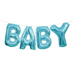 Blue Baby Foil Letter Balloon Banner