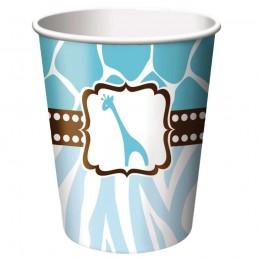 Wild Safari Blue Paper Cups (Pack of 8)