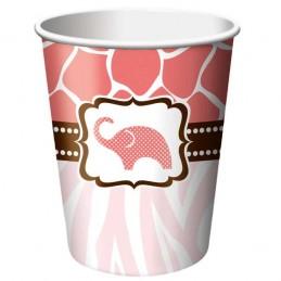 Wild Safari Pink Paper Cups (Pack of 8)