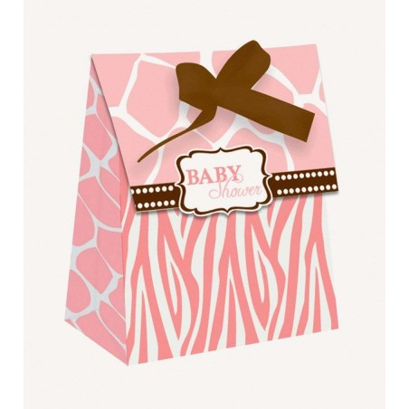 Wild Safari Pink Treat Boxes (Pack of 12)