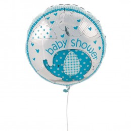 Blue Baby Elephant Baby Shower Foil Balloon