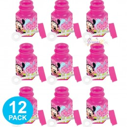 Minnie Mouse Mini Bubble Bottles (Pack of 12)