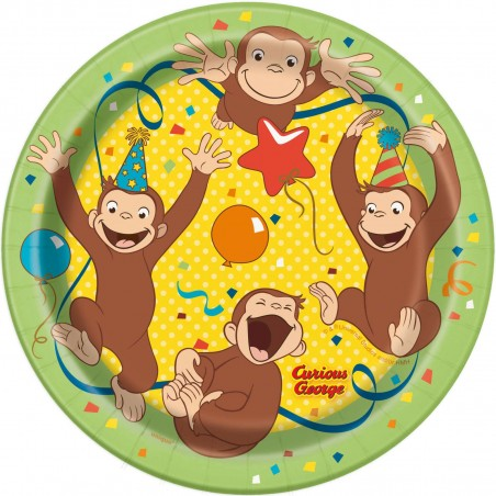 Curious George Small Plates (Pack of 8)