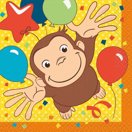 Curious George Small Napkins (Pack of 16)