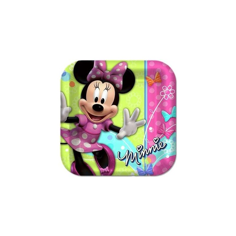 Minnie Mouse Bowtique Large Plates Pack Of 8