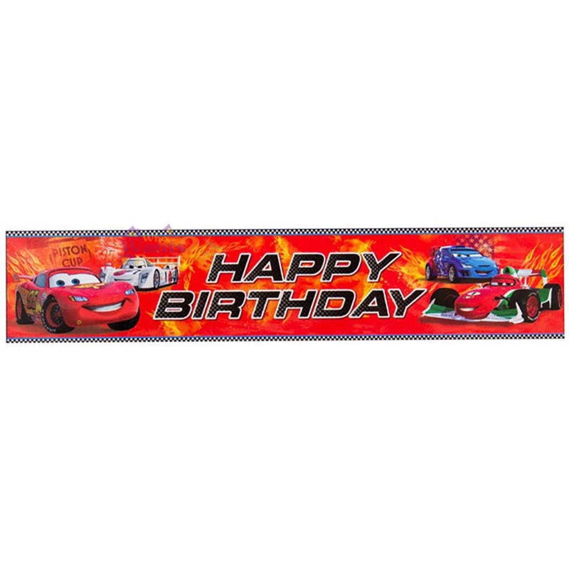 Cars 2 Happy Birthday Banner Disney Cars Party Supplies