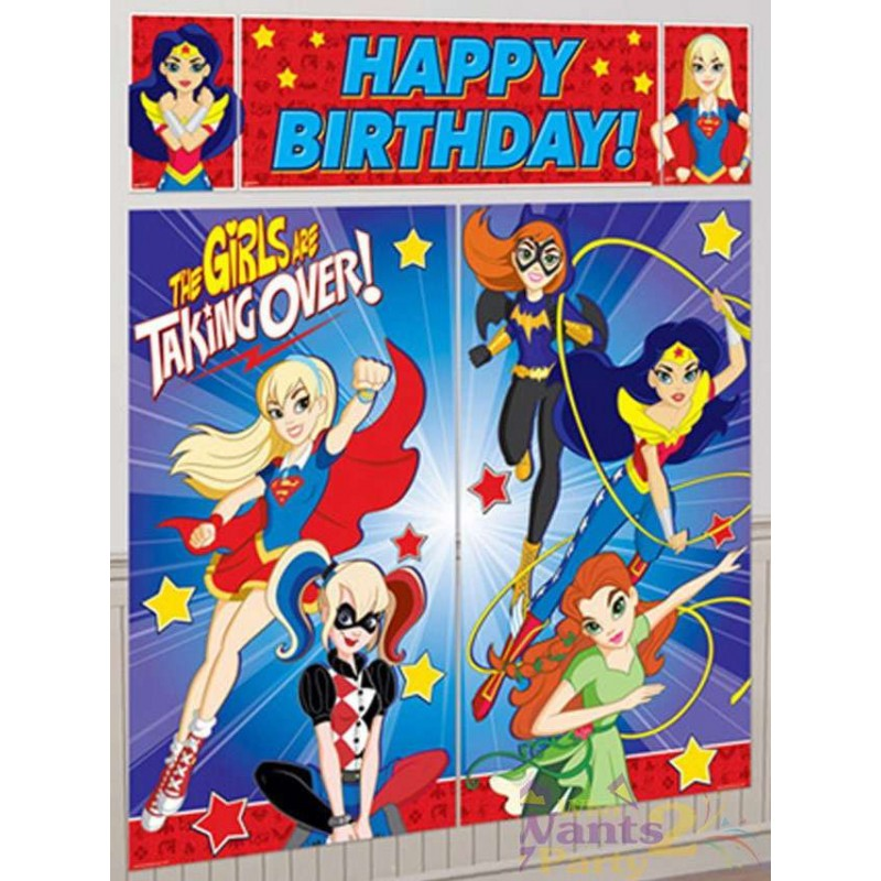 DC Super Hero Girls Scene Setter Wall Decorations