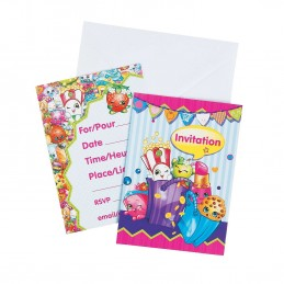 Shopkins Party Invitations Pack Of 8