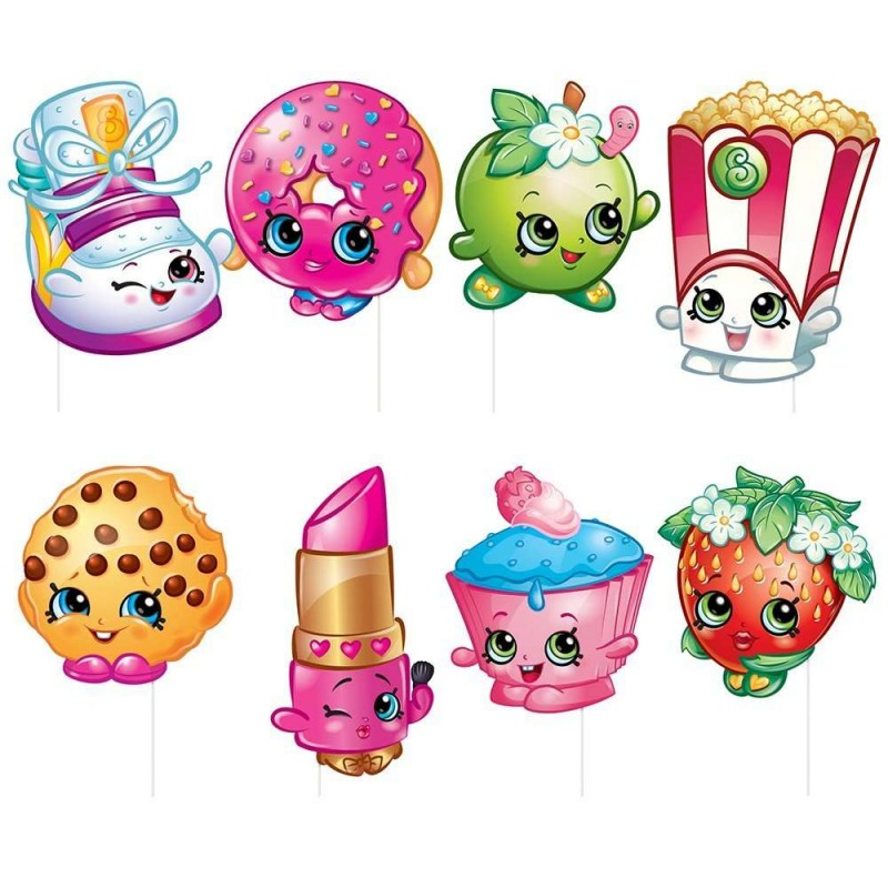 Very Shopkins Photo Booth Props - Shopkins Party Supplies | Who Wants 2  XJ53