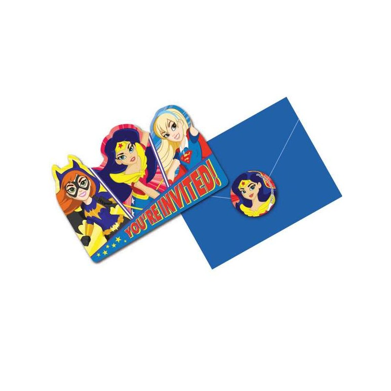 Dc Super Hero Girls Birthday Party Invitations 8 Who Wants 2 Party