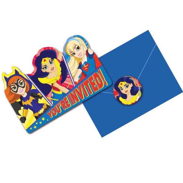 DC Super Hero Girls Party Invitations 8