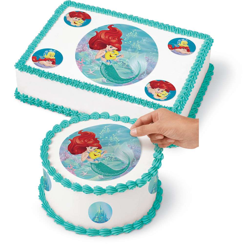 Ariel Edible Icing Cake Decoration Little Mermaid Party Supplies