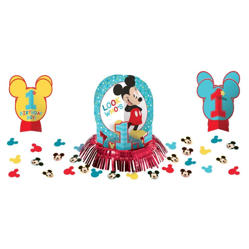 Tremendous Mickey Mouse 1St Birthday Table Decorating Kit Who Wants 2 Party Download Free Architecture Designs Intelgarnamadebymaigaardcom