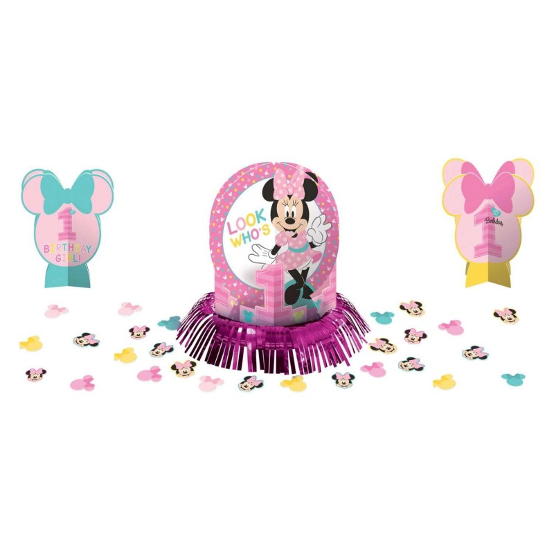 Minnie Mouse 1st Birthday Table Decorating Kit Who Wants 2 Party