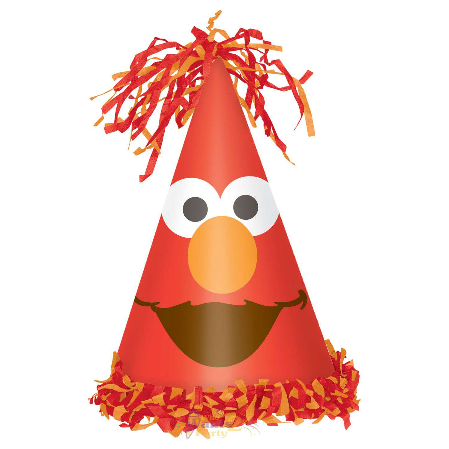 Elmo 1st Birthday Fringe Cone Hat