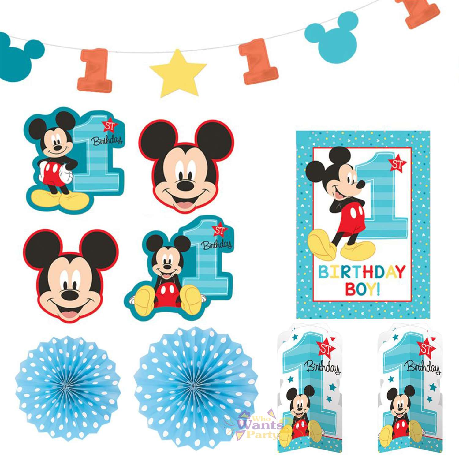 Incredible Mickey Mouse 1St Birthday Room Decorating Kit Mickey Mouse 1St First Birthday Party Supplies Who Wants 2 Party Download Free Architecture Designs Intelgarnamadebymaigaardcom