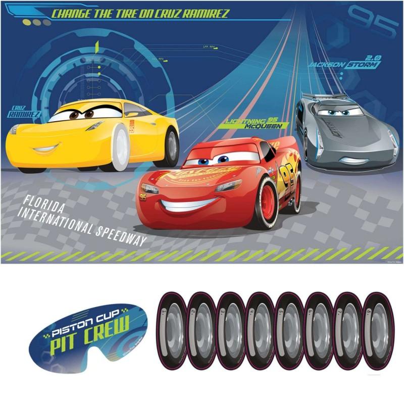 Disney Cars 3 Scene Setter Happy Birthday Wall Decoration Mcqueen