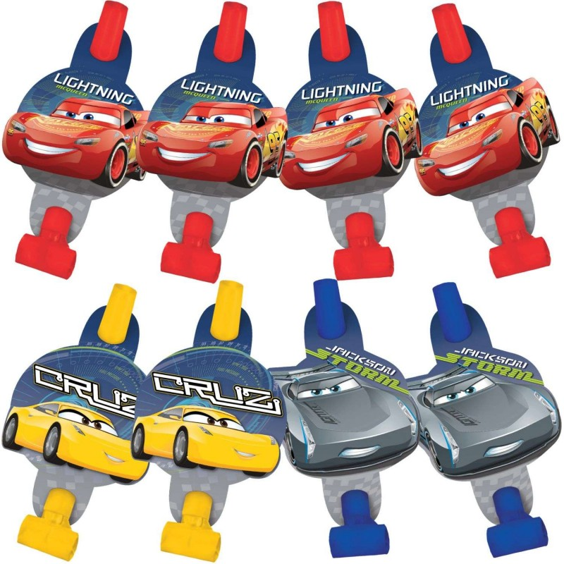 Cars 3 Party Blowers Pack Of 8