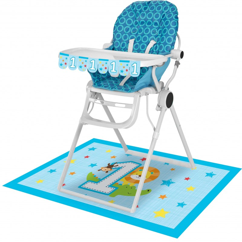 Boys Jungle 1st Birthday High Chair Decorating Kit