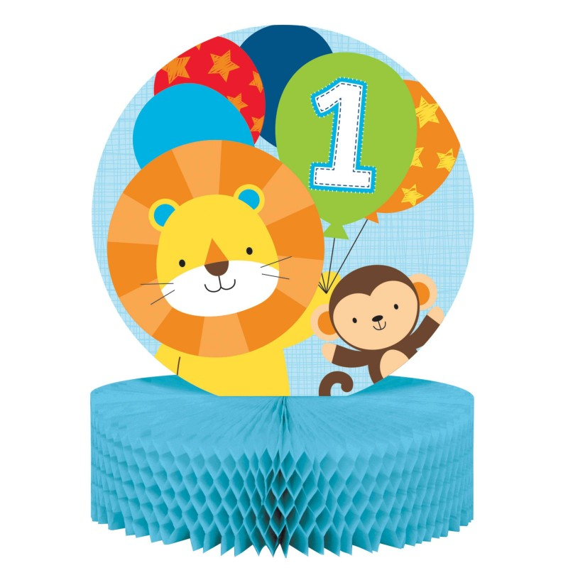 Boys Jungle 1st Birthday Party Centrepiece