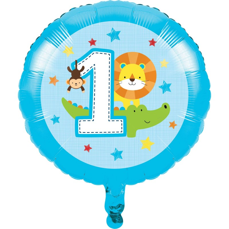Boys Jungle 1st Birthday Foil Balloon
