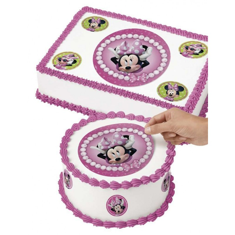 Minnie Mouse Edible Icing Cake Decorations 9 Piece Minnie