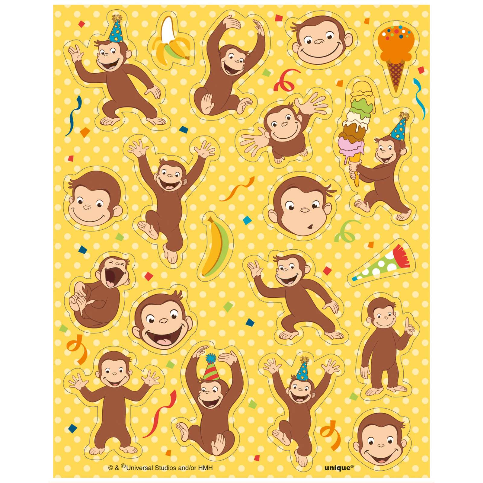 Curious George Stickers Set Of 80
