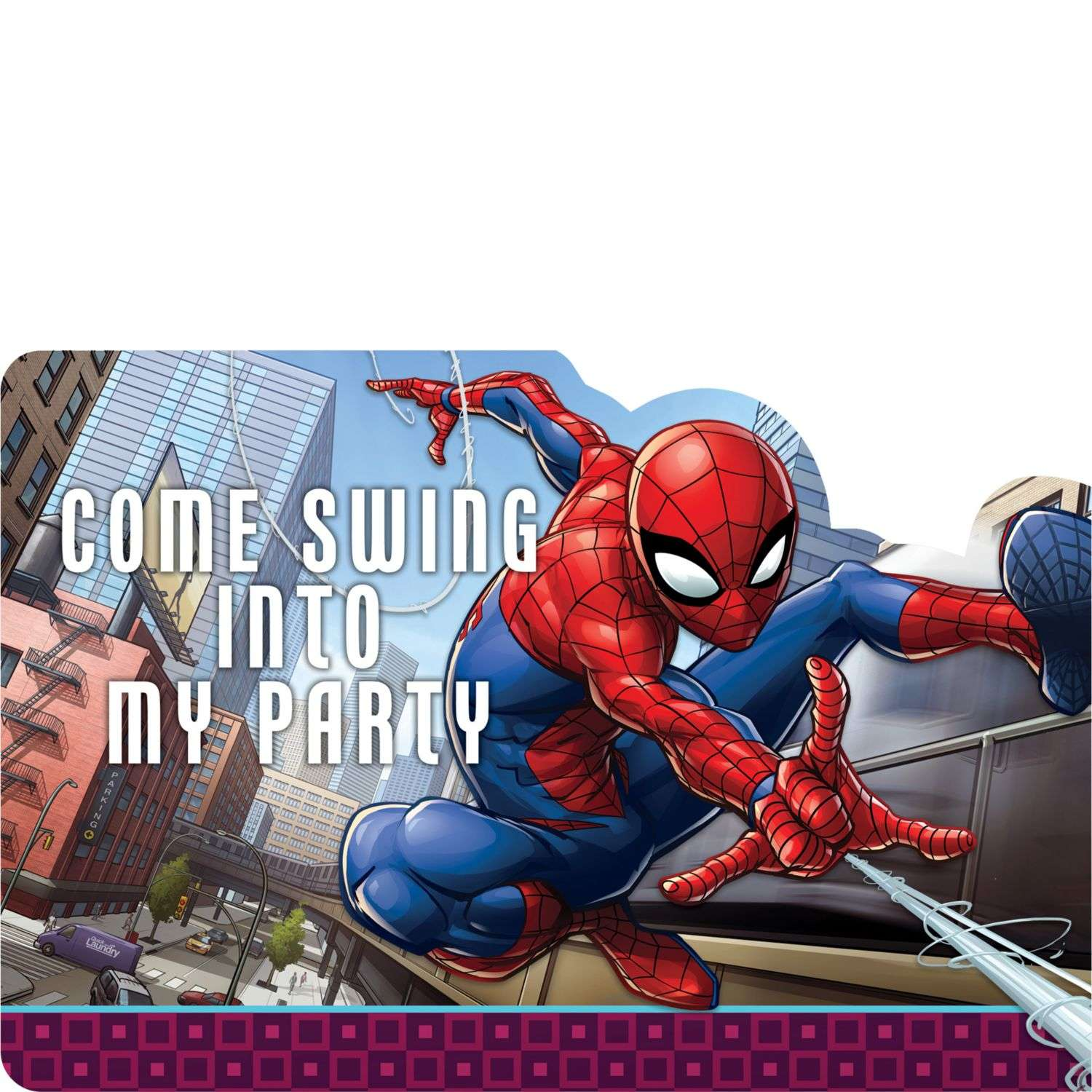 Spiderman Webbed Wonder Party Invitations Pack Of 8