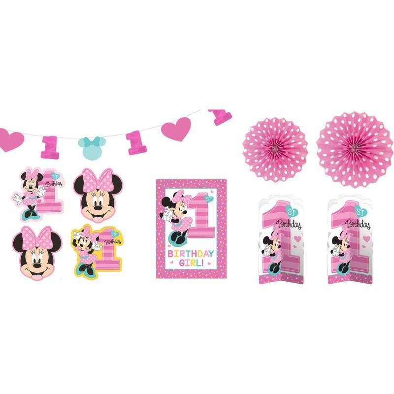 Minnie Mouse 1st Birthday Room Decorating Kit