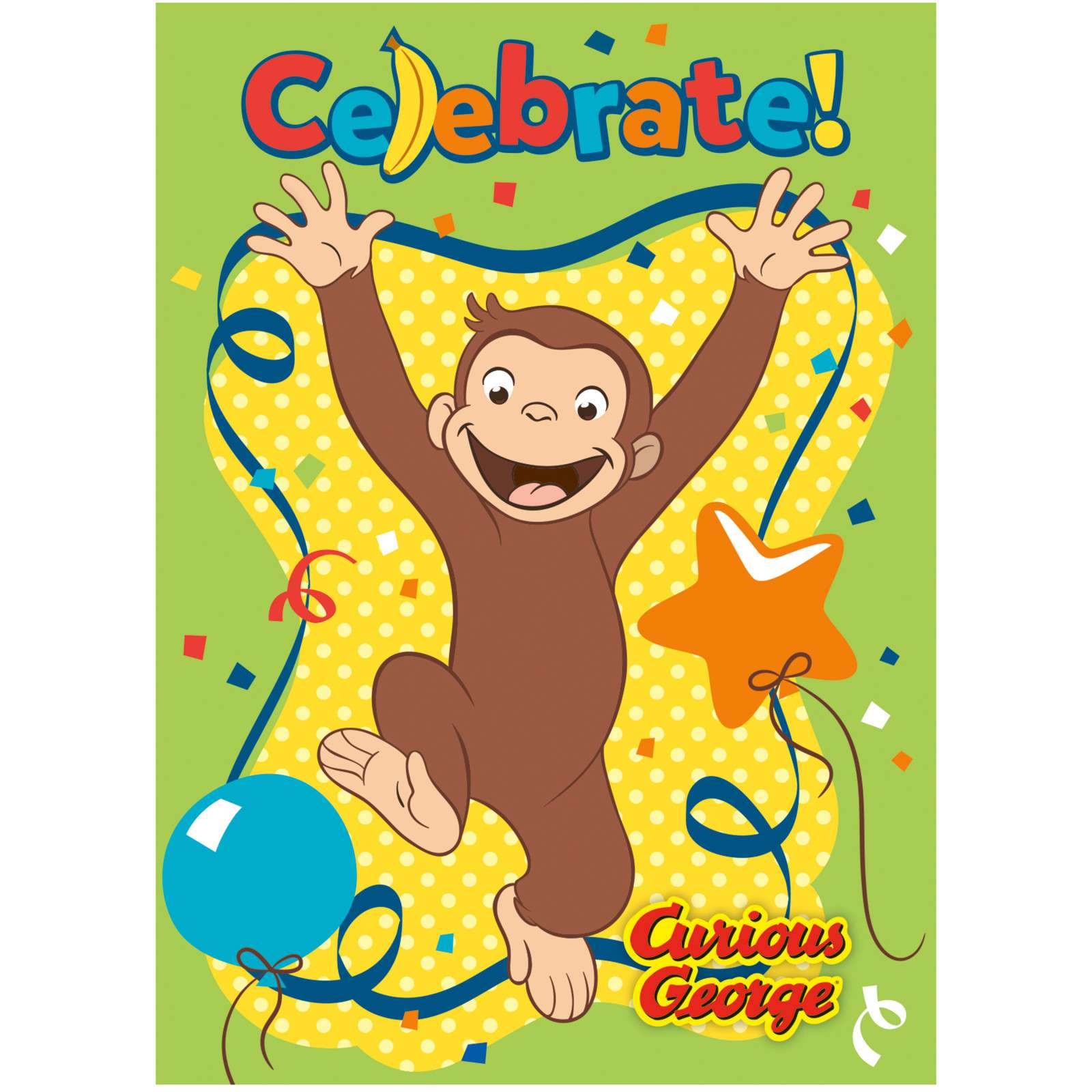 Curious George Party Invitations Pack Of 8